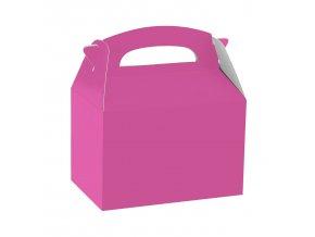 Papierový Party Box - tmavoružový