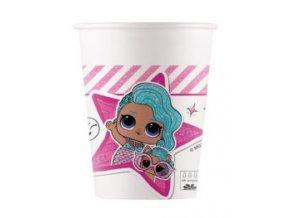 Kvalitné kompostovateľné poháre - LOL Glitterati 8 ks