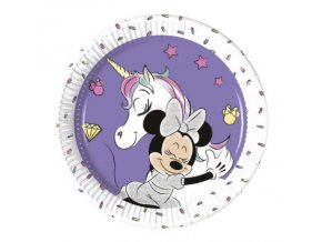 MINNIE UNICORN PLATE 20 CM