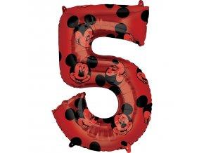Fóliový balón narodeninové číslo 5 - Mickey Mouse