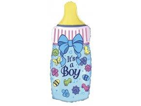Fóliový balón Fľaša Je to chlapec