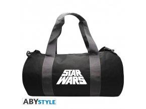 star wars sac de sport logo grey black
