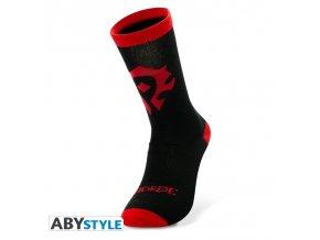 world of warcraft chaussettes noir rouge horde