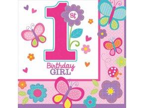 Servítky Sladké narodeniny dievča
