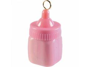Závažie na balóny Detská fľaša ružová