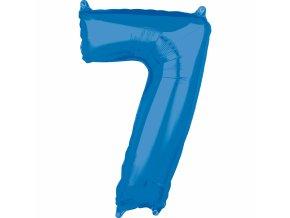 Fóliový balón narodeninové číslo 7 modrý 66cm