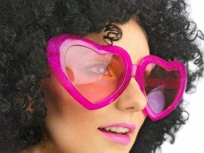 Okuliare srdcia ružové