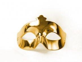 Party maska zlatá