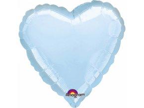 Fóliový balón Srdce svetlomodré