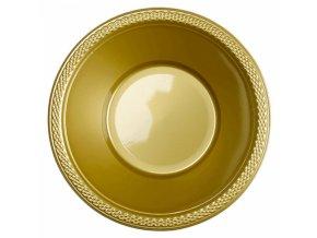 Miska plastová zlatá