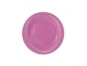 Ružové taniere 6 ks