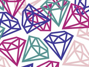 Kosfety diamanty 12 ks