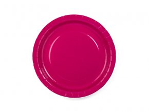 Tmavoružové taniere 6 ks