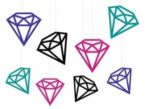 Visiace dekorácie Diamanty