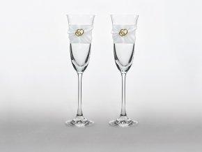 Svadobné poháre so srdiečkami
