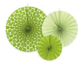 dekoracne rozety zelene