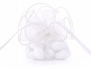 Organzové vrecúško biele