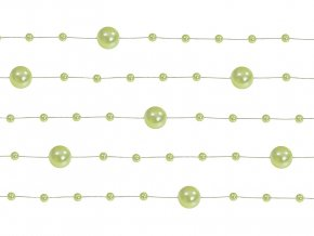 Perlové girlandy zelené jablko