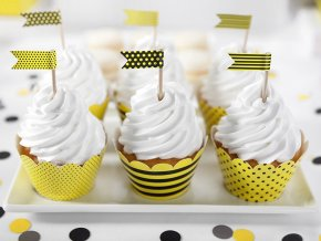 Košíčky na muffiny - Včielka 6 ks