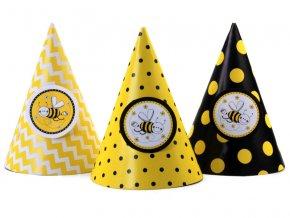 Párty klobúčiky - Včielka 6 ks
