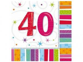 Servítky 40. narodeniny 16 ks