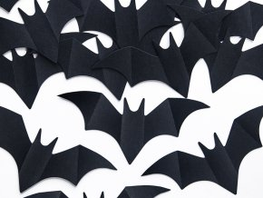 Konfety netopiere cierne