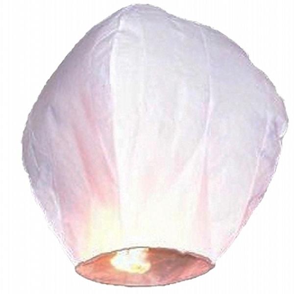 PartyDeco Lietajúci lampión priania biele