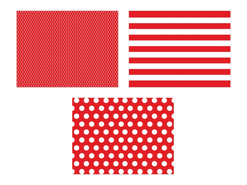 PartyDeco Prestieranie papierové červené 40 x 30 cm 6 ks