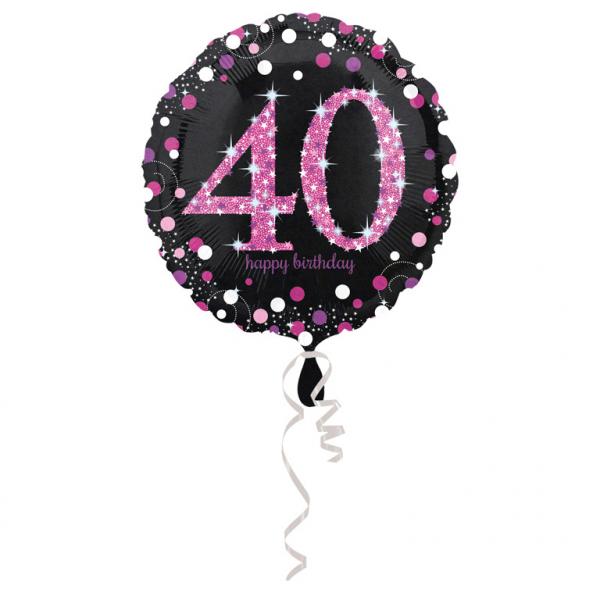 Amscan Fóliový balón 40 trblietavá ružová