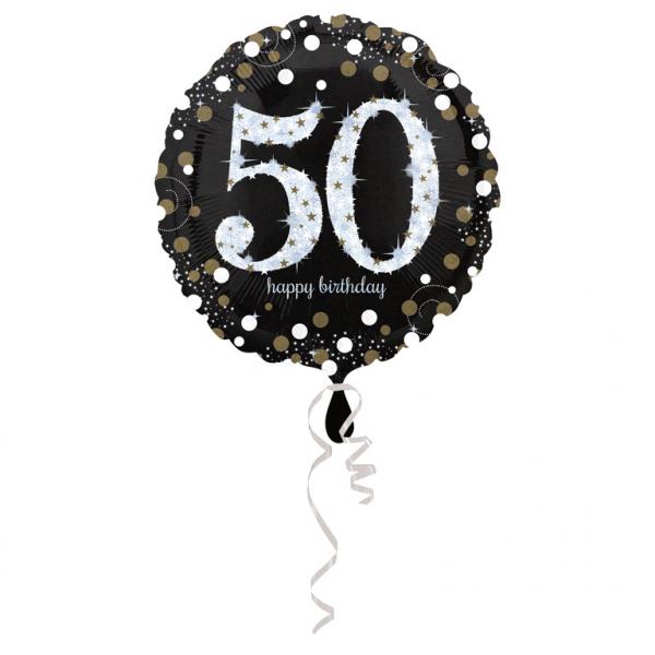 Amscan Fóliový balón 50 trblietavá zlatá
