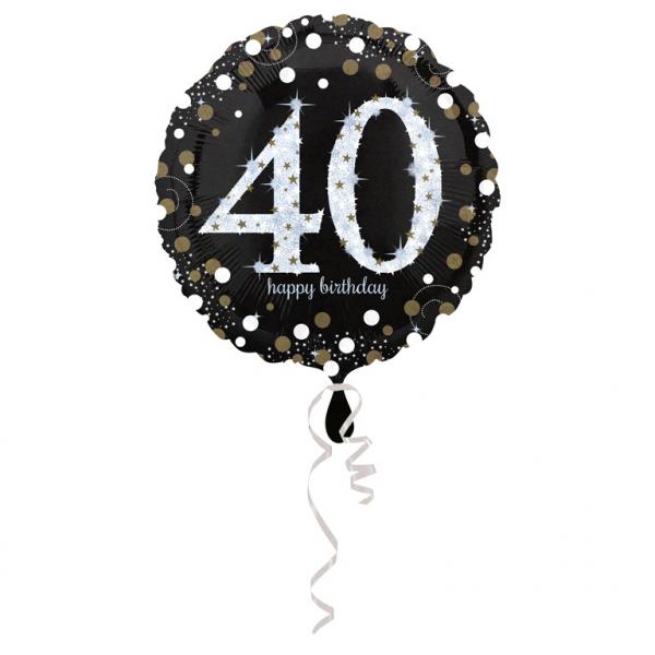Amscan Fóliový balón 40 trblietavá zlatá