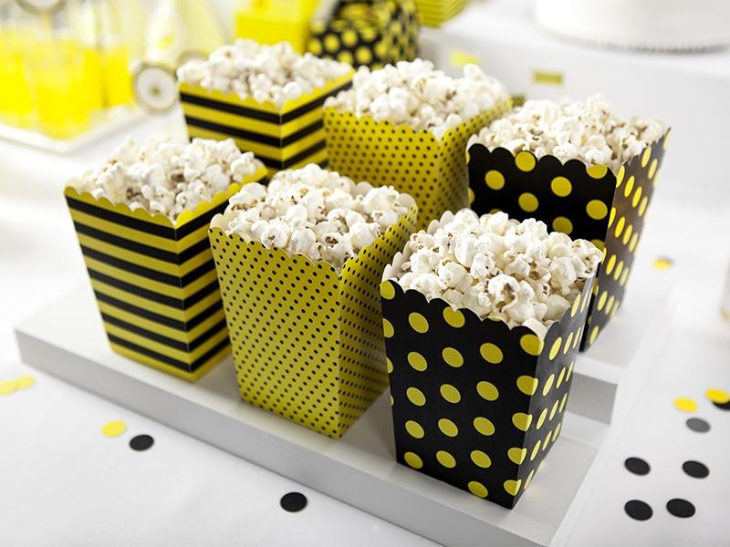 PartyDeco Dekoratívne boxy pre popcorn Včielka 6ks