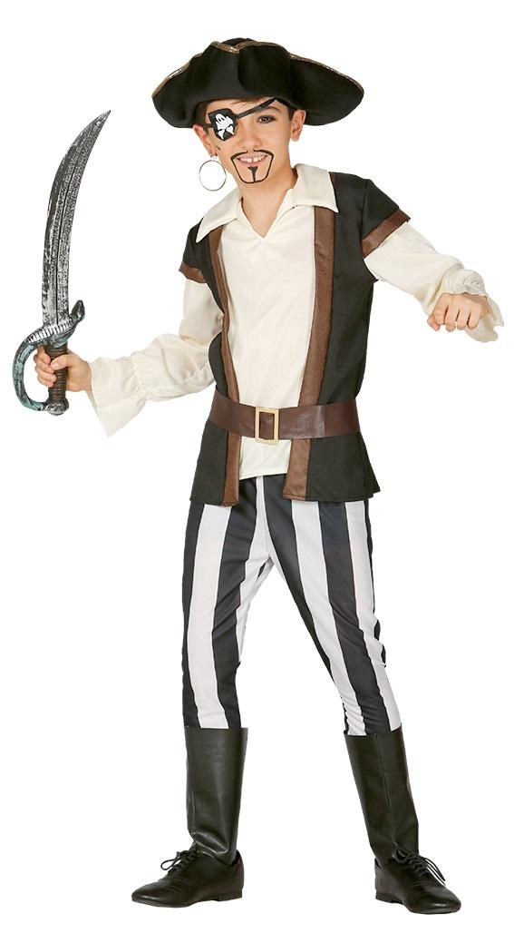 Guirca Kostým Krvilačný pirát Veľkosť - deti: XL