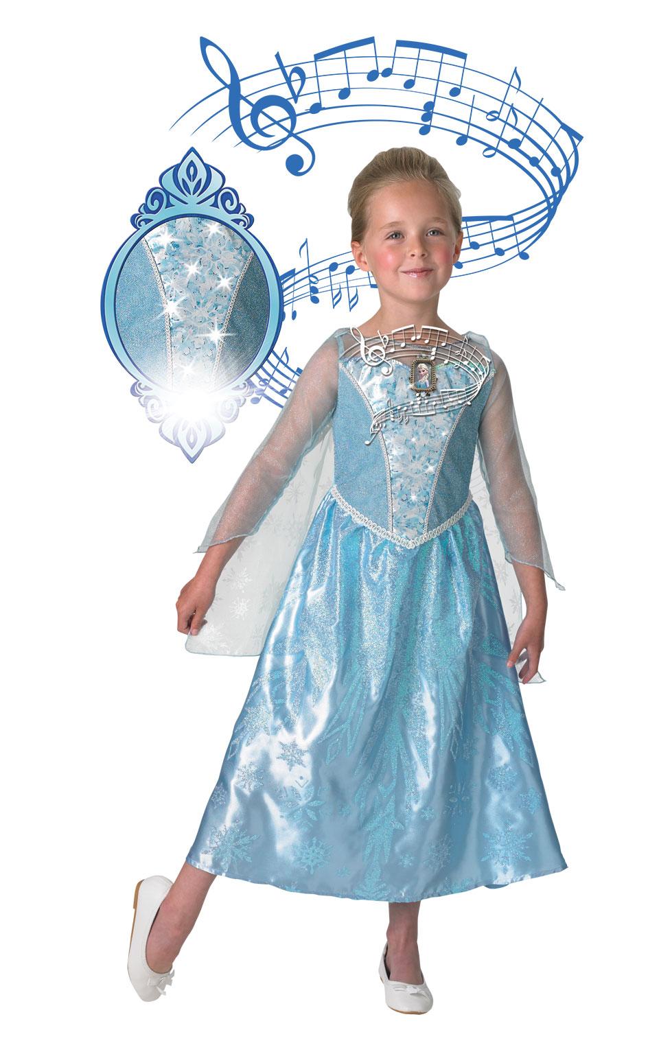 Rubies Detský kostým Elza - svieti a hrá Veľkosť: L