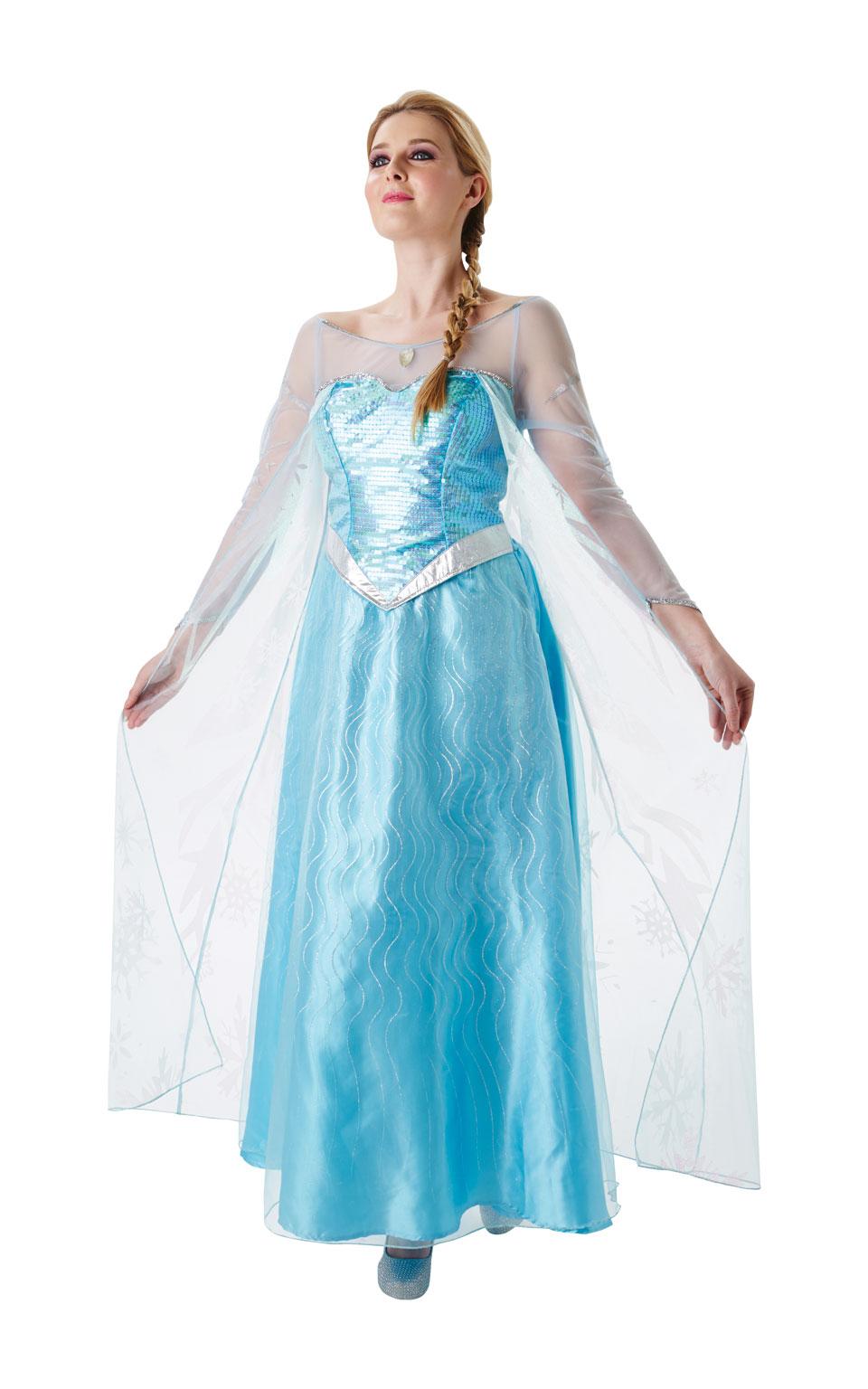 Rubies Dámsky kostým Elza Frozen Veľkosť - dospelý  L c803fa282a1