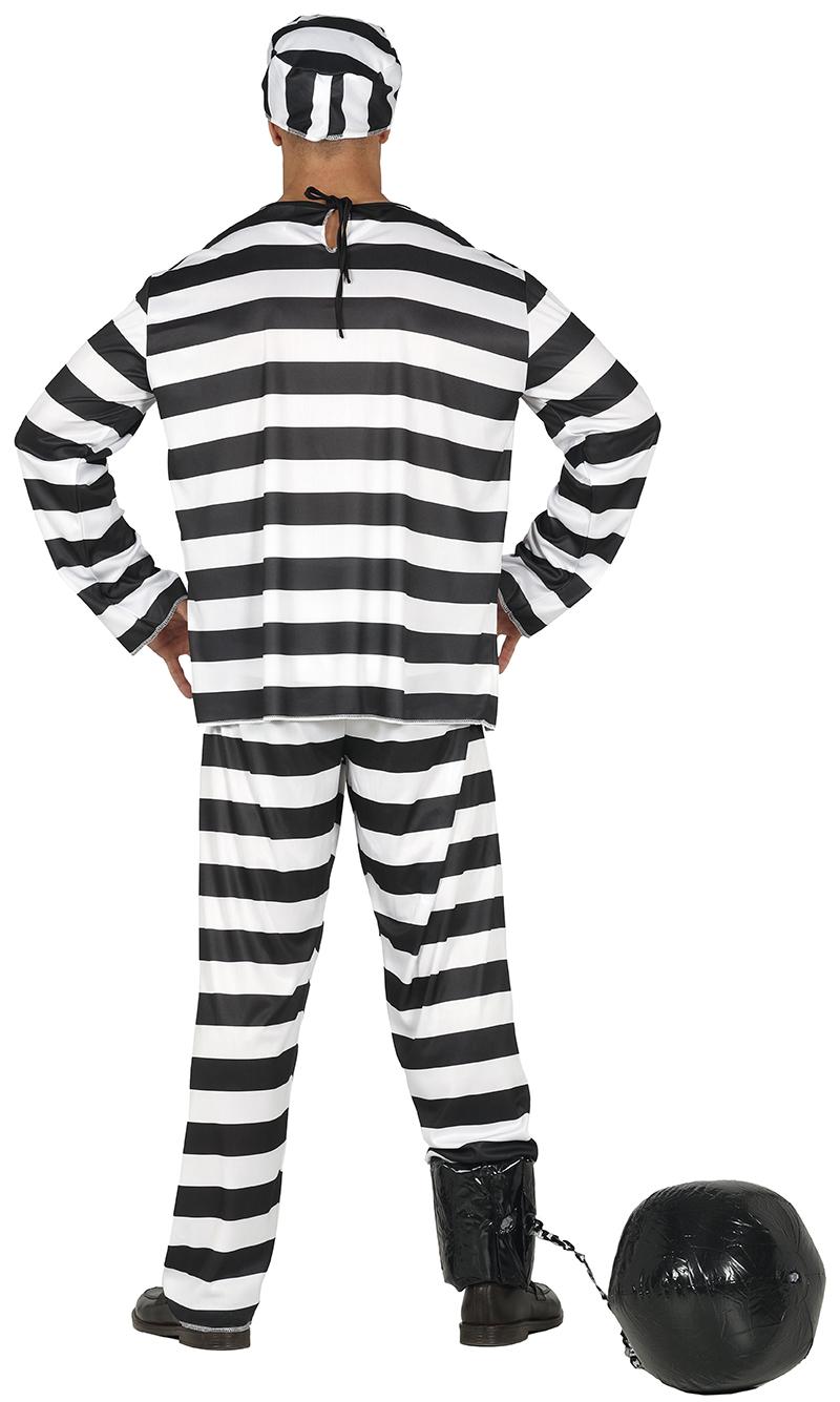 Guirca Kostým väzňa Veľkosť - dospelý: M