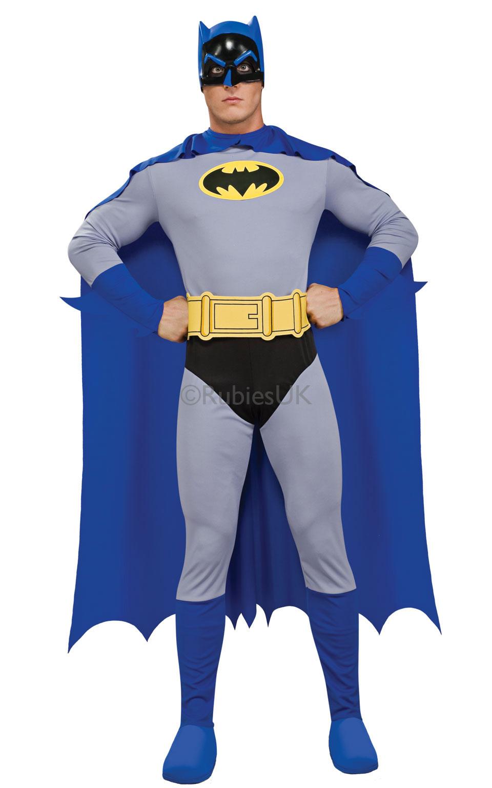 Rubies Kostým Batman - modrý Veľkosť - dospelý  L af5f1d49e3b