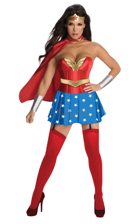 Rubies Kostým Wonderwoman s korzetom Veľkosť: S (hruď: 83-89 cm, pás: 63-66 cm)