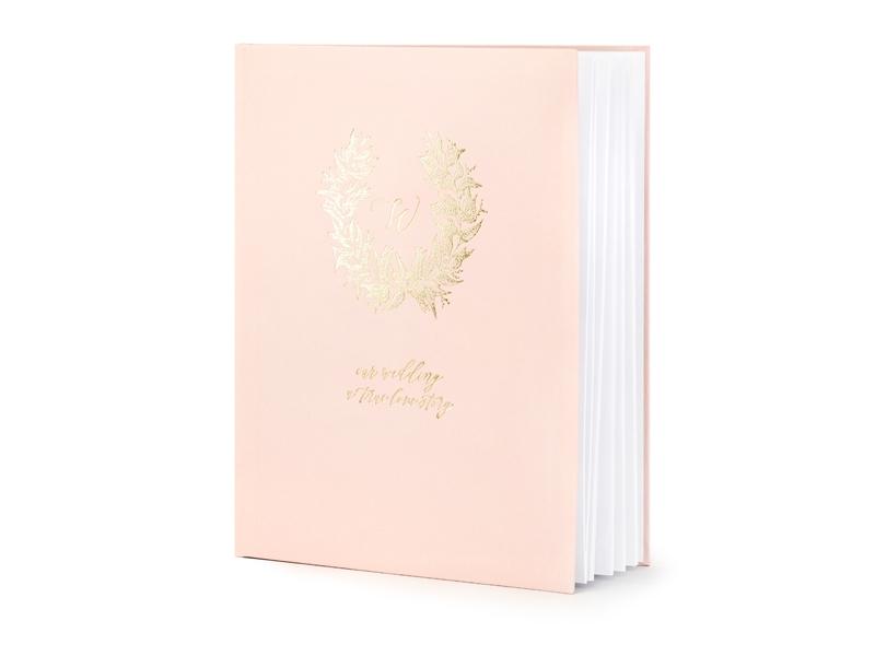 PartyDeco Kniha Hostí Ružovo Zlatá