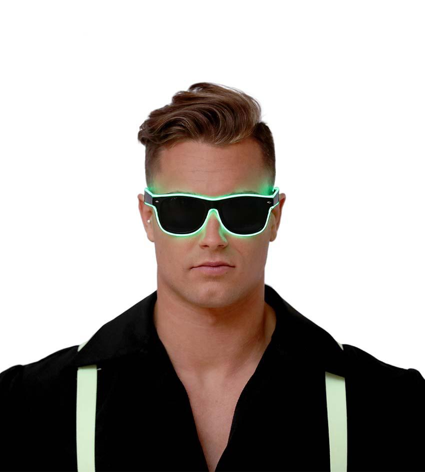 Guirca Zelené okuliare s osvetlením