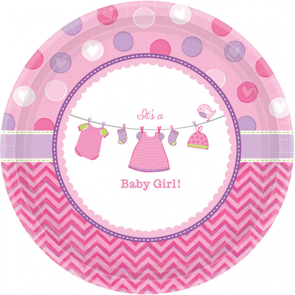 Amscan Taniere Baby Girl 8 ks