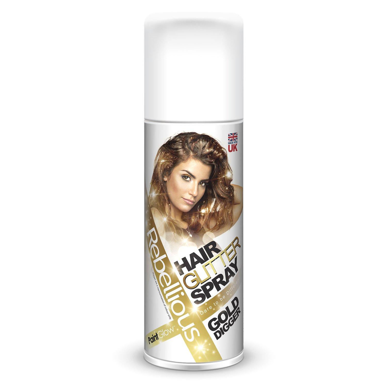 PGW Farebný sprej na vlasy s glitrami - 125 ml rôzne farby Farba: zlatá