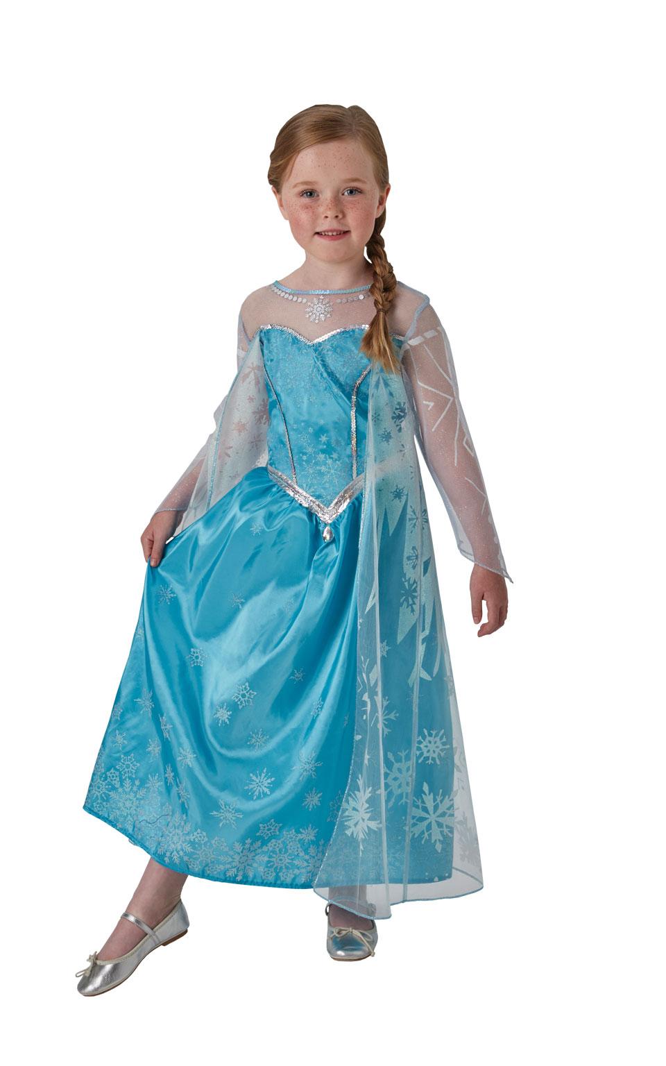 Rubies Deluxe Elsa kostým - detský Veľkosť - deti: L
