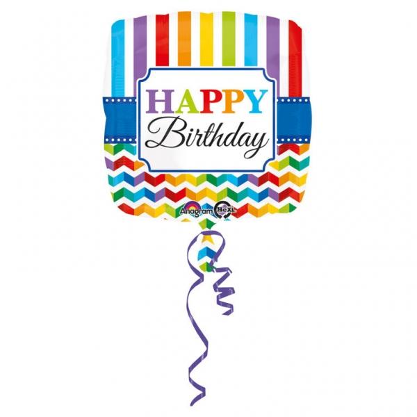 Amscan Fóliový balón Farebné narodeniny 43 cm