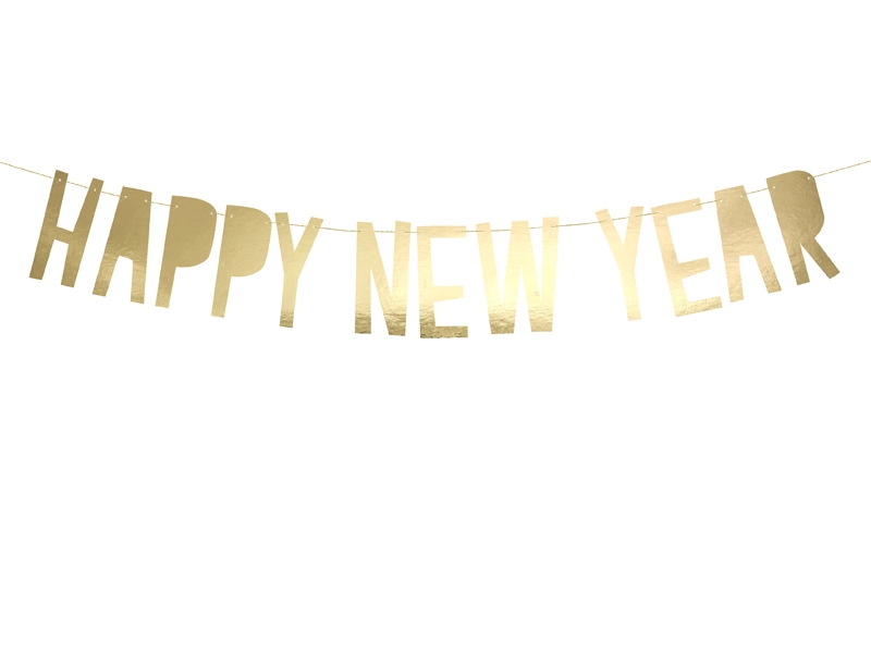 PartyDeco Banner Happy New Year