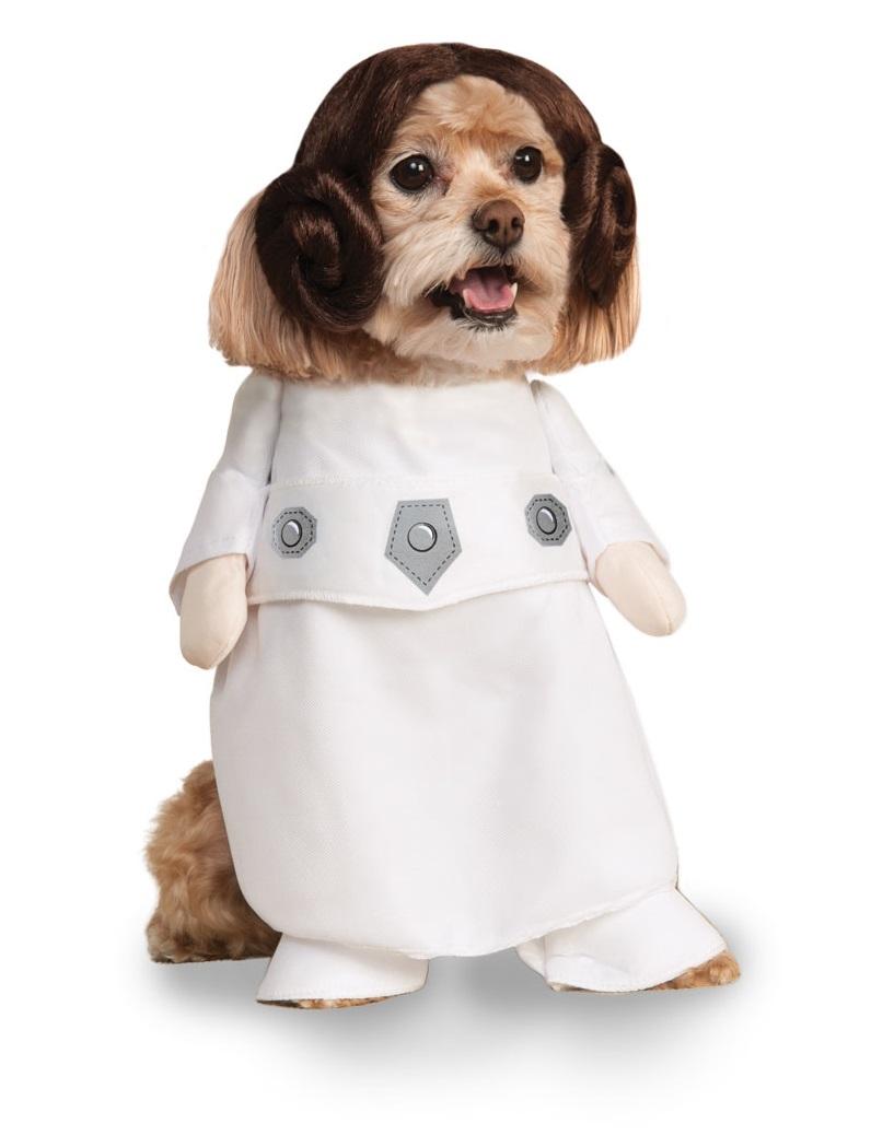 Rubies Kostým pre psov - Princezná Leia Kostým pre psov: S