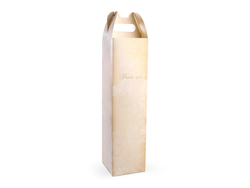 PartyDeco Darčekové krabice na alkohol - Zlatá