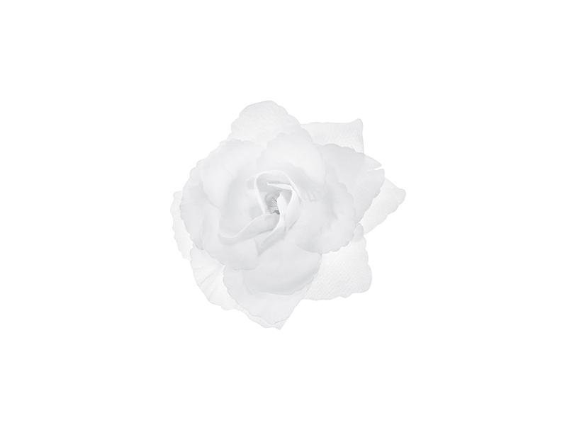 PartyDeco Dekorácia - Umelá Ruža biela 24 ks