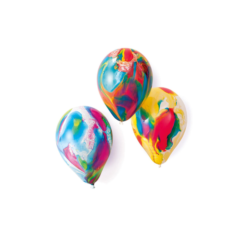 Amscan Latexové balóny mix farebné mramorové 18 cm - 8 ks