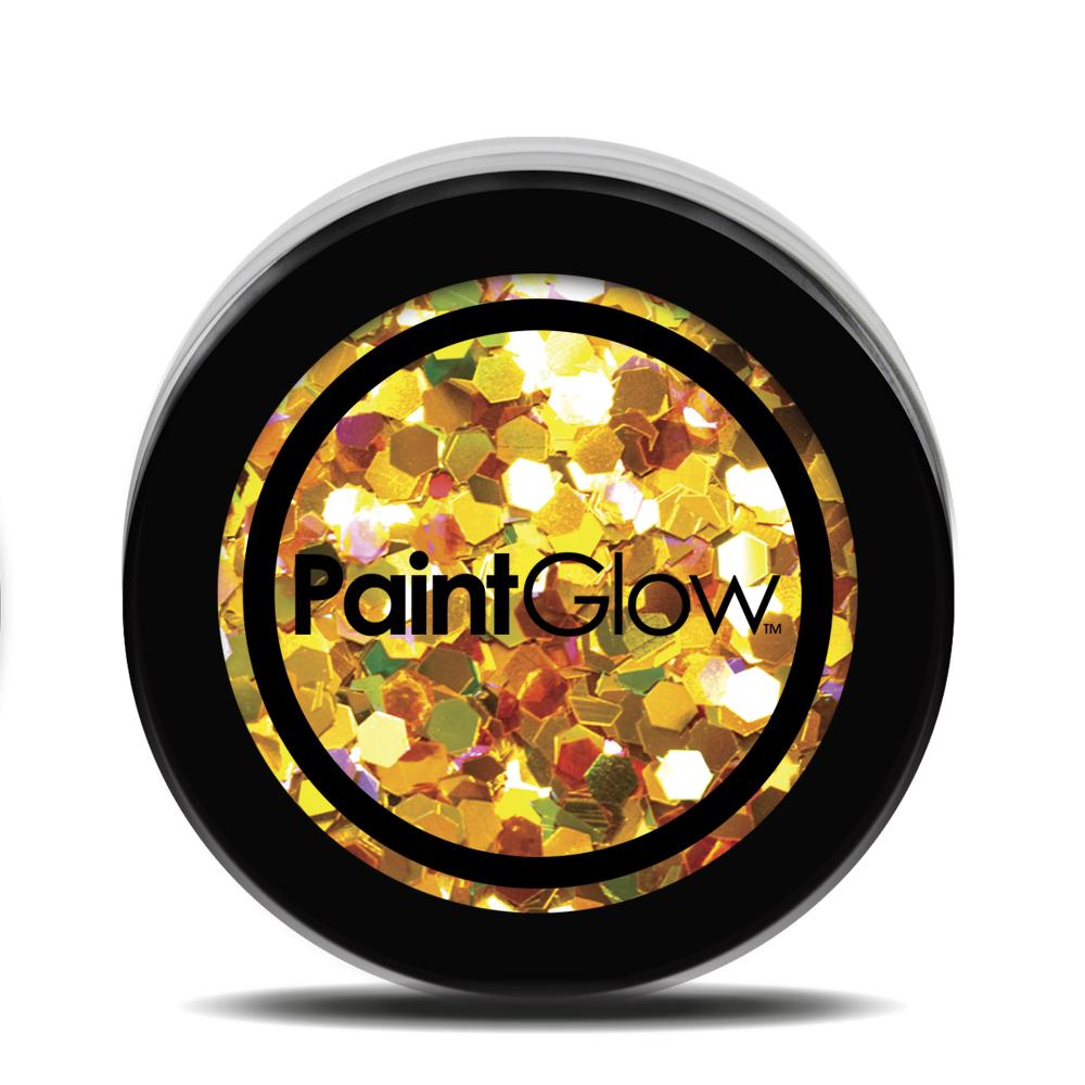 PGW Holographic Farba na tvár - rôzne farby Farba: žltá